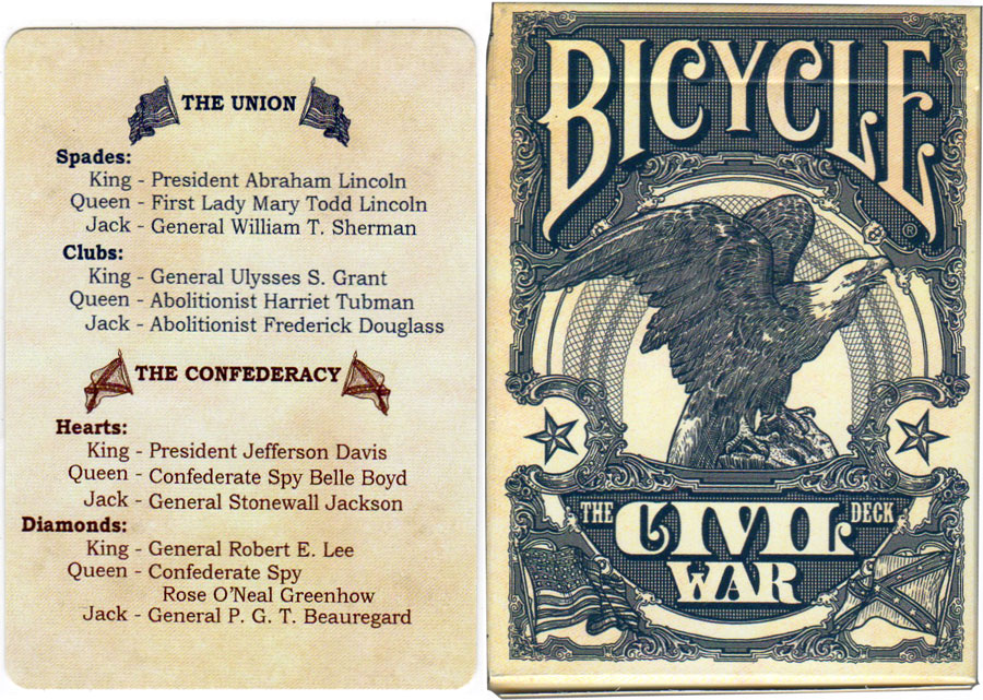 The Bicycle Civil War Deck by USPCC, 2017
