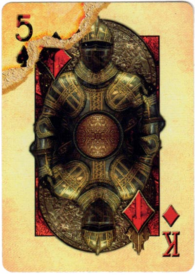 Bicycle Knights playing cards designed by Sam Hayles in 2018