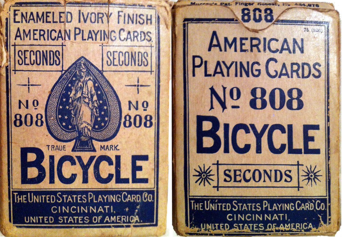 U.S.P.C.C. 'Bicycle Seconds' box, c.1895