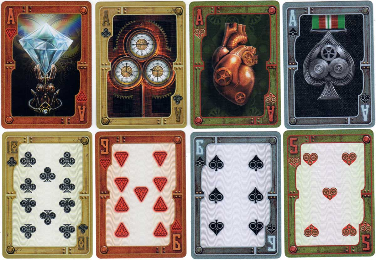 Bicycle Steampunk playing cards with Gothic artwork by Anne Stokes, 2015