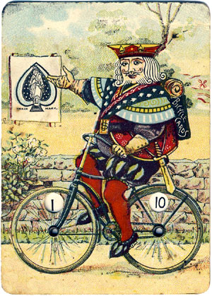 Bicycle No.808 playing-cards early trade card