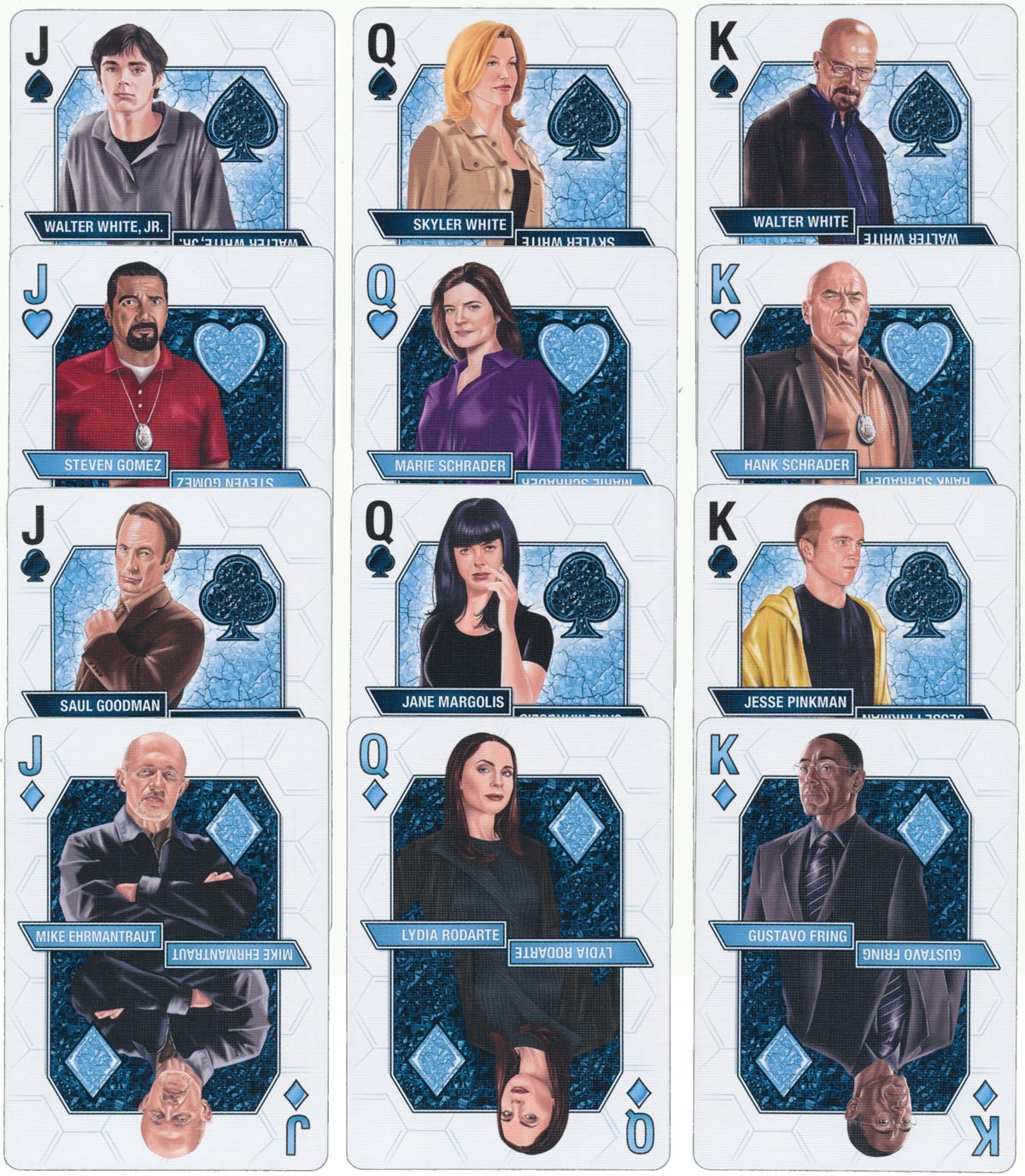Breaking Bad fan deck designed by Albino Dragon and manufactured by the USPCC in 2014