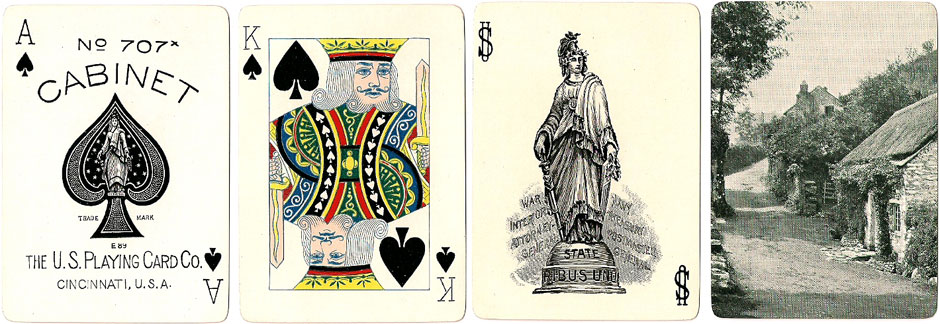 Cabinet No.707x playing cards manufactured by the United States Playing Card Co., Cincinnati, c.1902