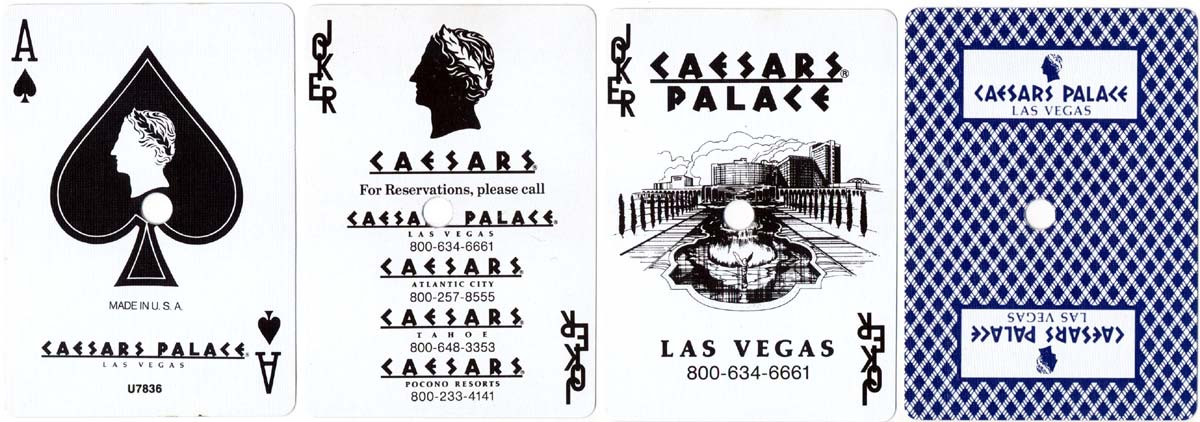 Bee 92 Casino quality by USPCC for Caesar's Palace, Las Vegas, 1995