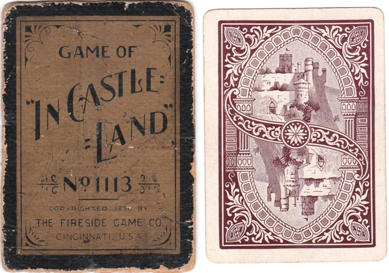 The Game of 'In Castle Land' (No.1113) published by The Fireside Game Co., Cincinnati, 1896