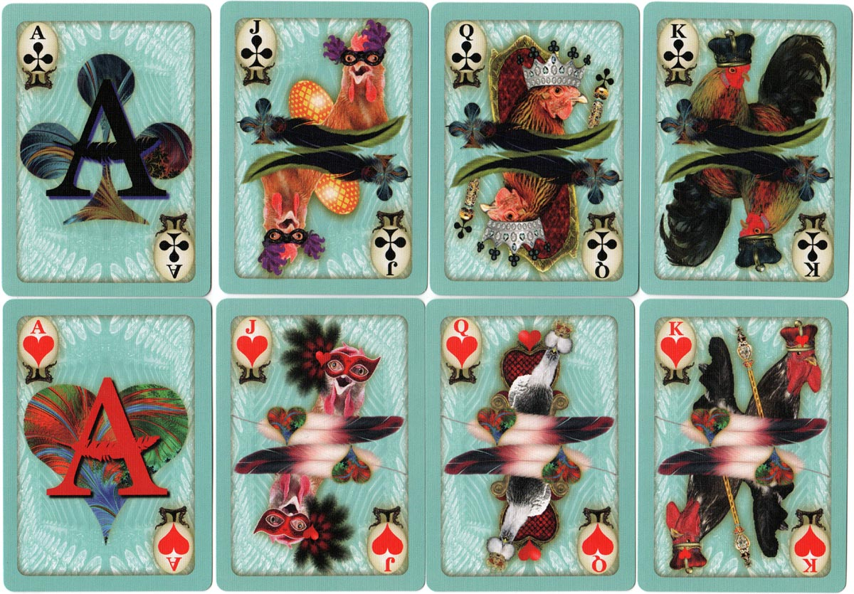 Chicken Playing Cards designed by Susan Krupp, 2017