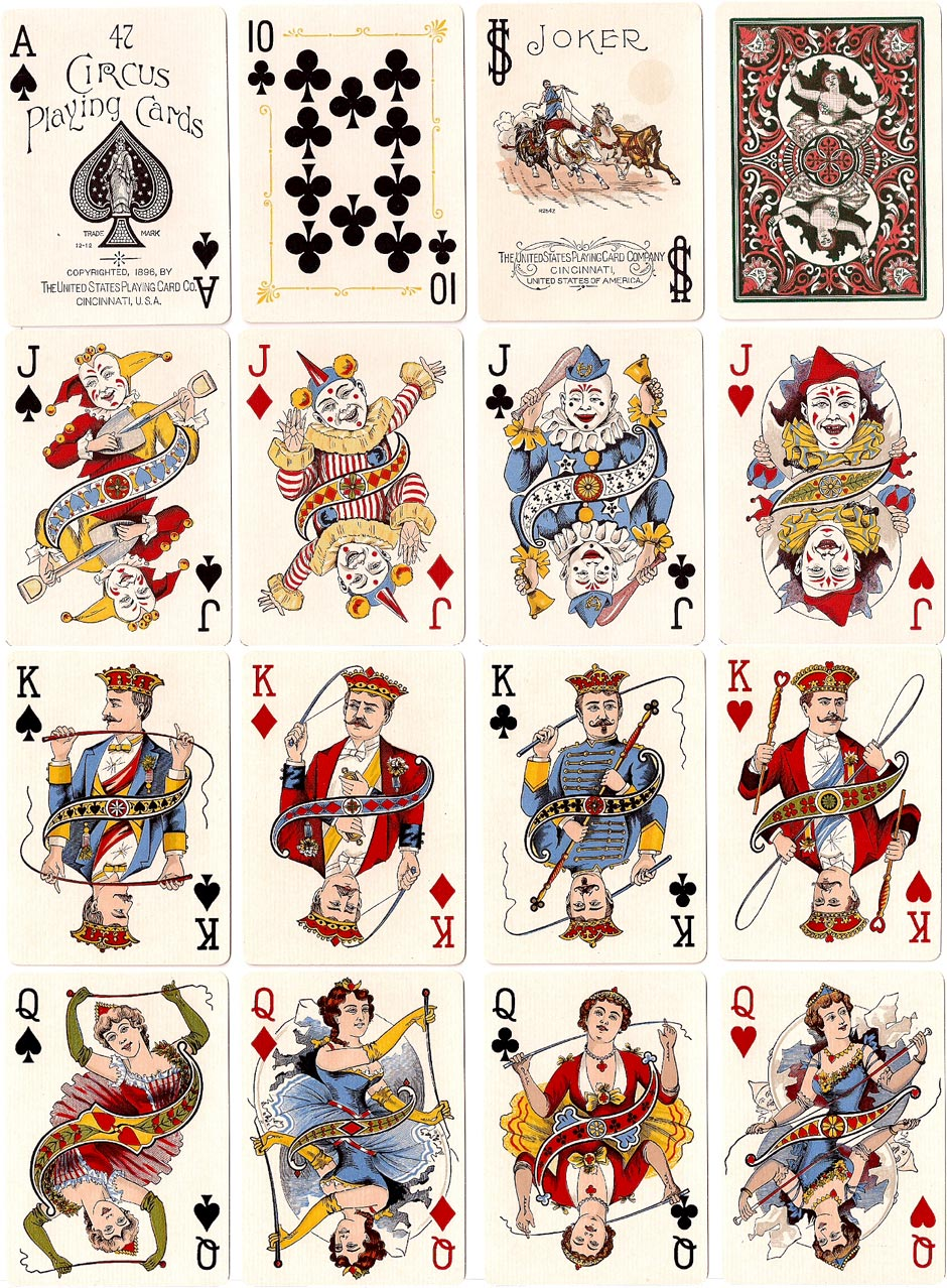 Circus No.47, issued by the United States Playing Card Company, 1896