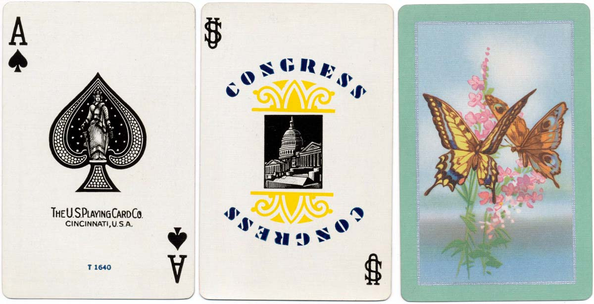 'Congress' playing cards by USPCC, c.1954