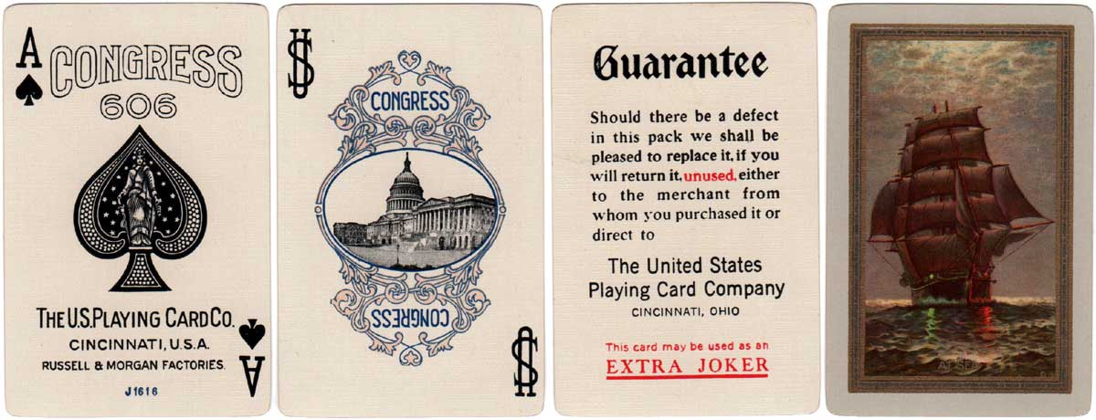 Congress #606 'At Sea' back design, c.1927