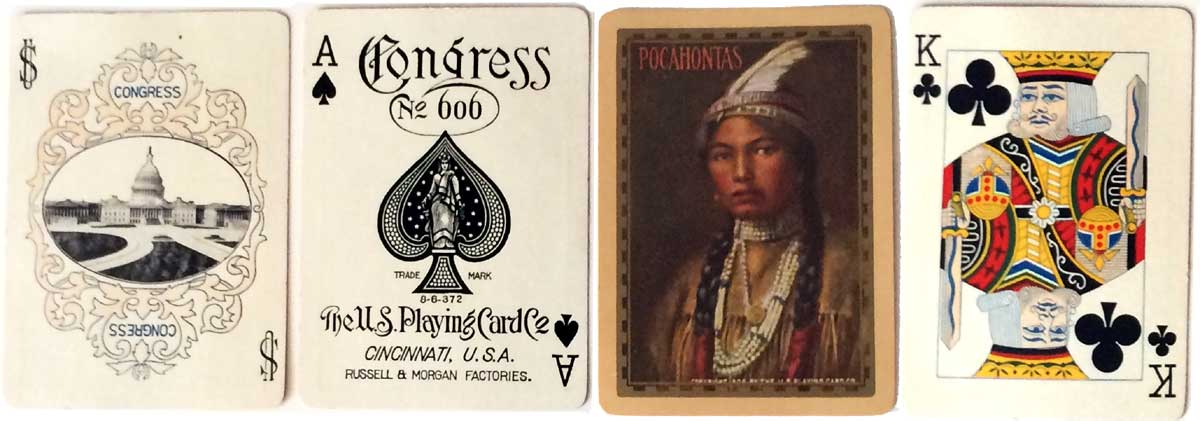 "Congress No.606 deck titled ""Pocahontas"" by U.S.P.C.C, 1906"