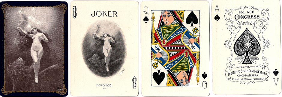 "Congress No.606 deck titled ""Berenice"" by U.S.P.C.C, c.1900"