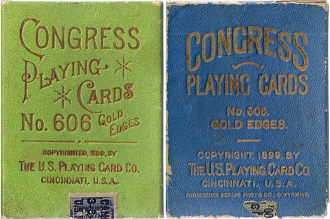 Congress No.606 boxes by U.S.P.C.C, 1899-1903