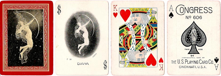 "Congress No.606 deck titled ""Diana"" by U.S.P.C.C, 1899"