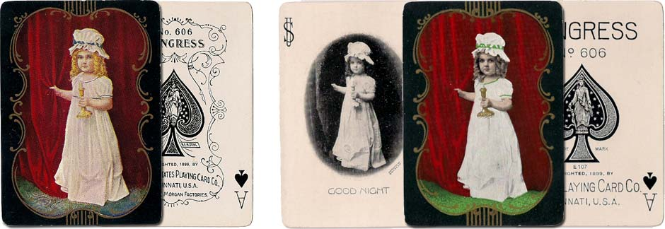 "Congress No.606 decks titled ""Good Night"" by U.S.P.C.C, 1899"