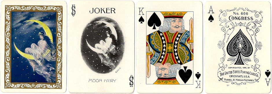 "Congress No.606 deck titled ""Moon Fairy"" by U.S.P.C.C, 1899"