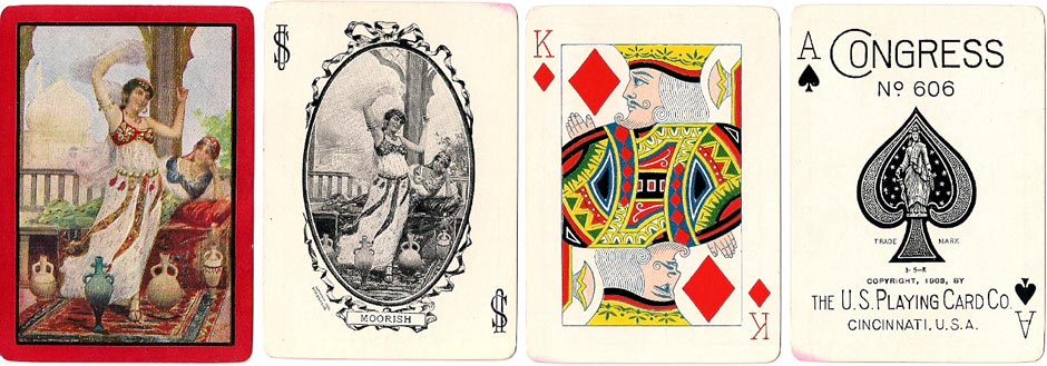 "Congress No.606 deck titled ""Moorish"" by U.S.P.C.C, c.1903"