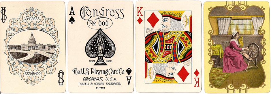 "Congress No.606 deck titled ""Spinning Wheel"" by U.S.P.C.C, 1908"