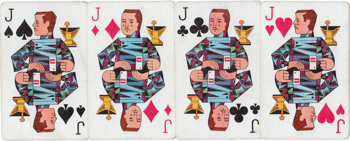 Coricidin Demilets pharmaceutical playing cards, 1967
