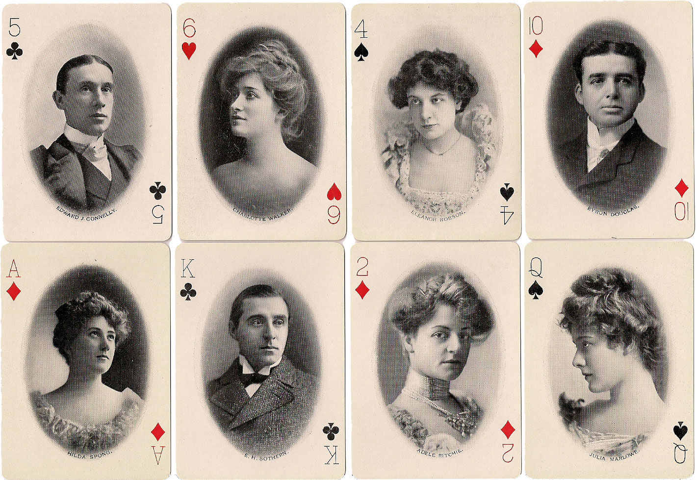 Craddock's Soap Theatrical playing cards, published in 1895 by the Eureka Soap Co., Cincinnati