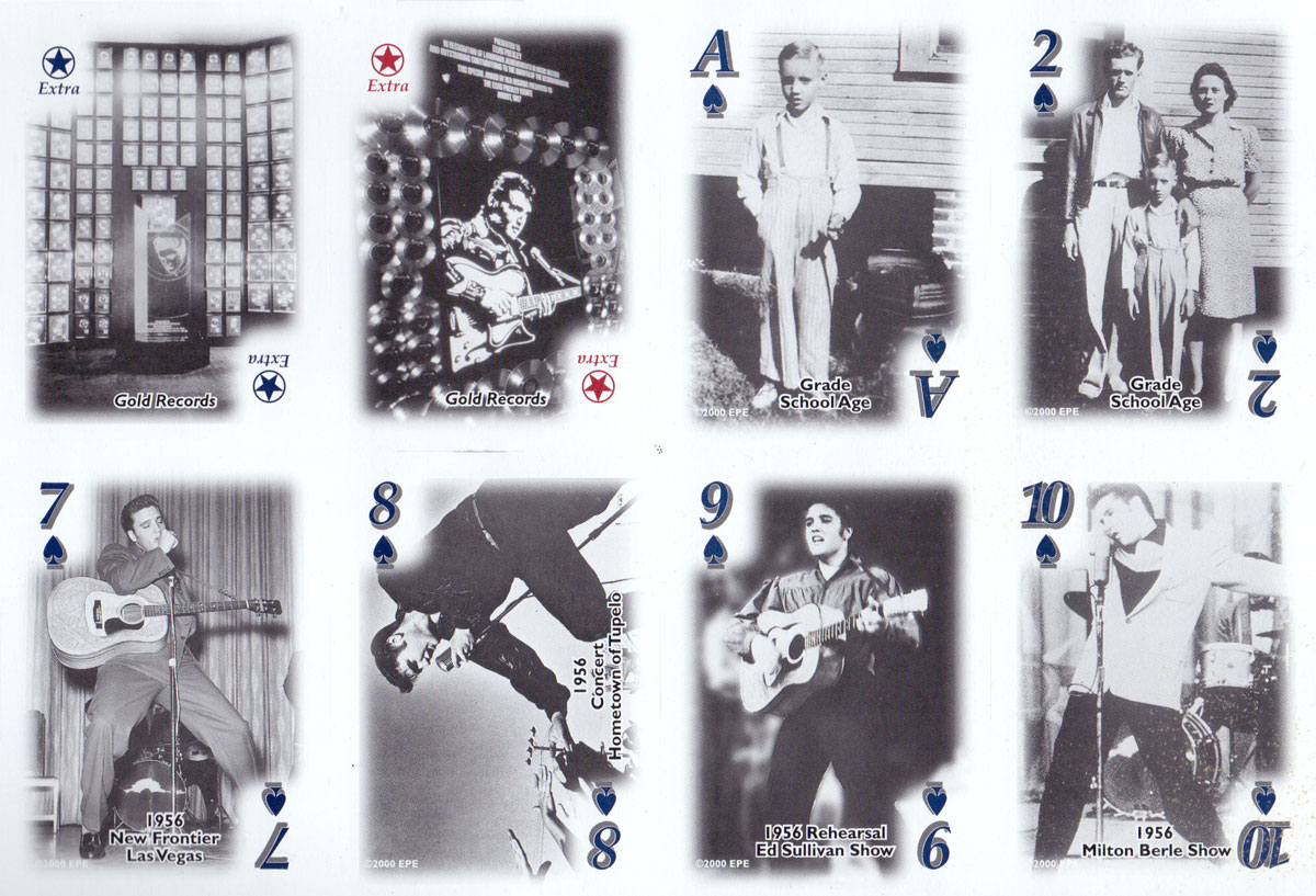 Elvis Playing Cards Black /& White