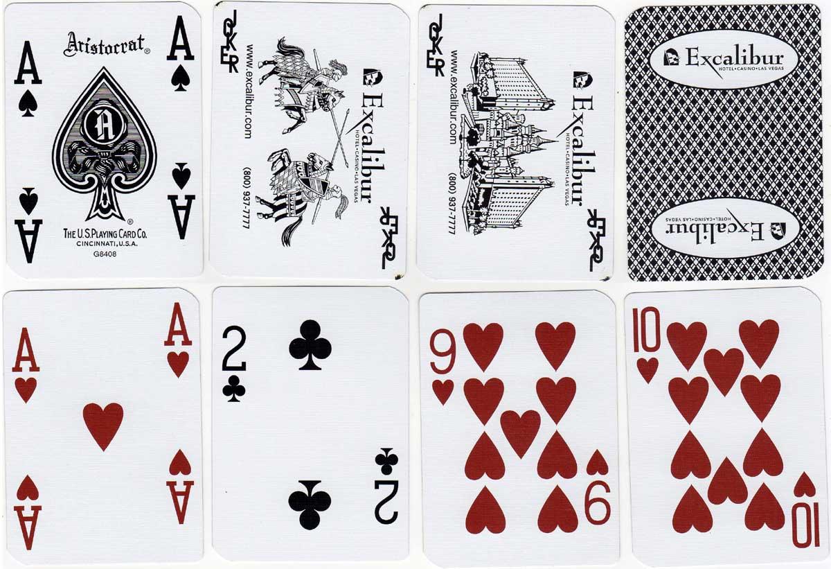 Aristocrat Casino Cards for Excalibur Casino by USPCC 2005