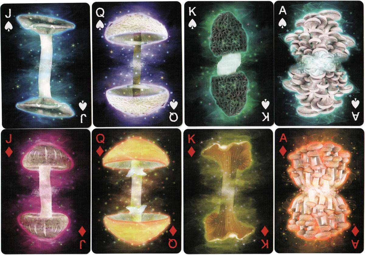 Fungi Mycological Playing Cards, manufactured by USPCC, 2018