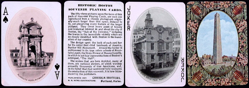 Historic Boston and Vicinity Souvenir Playing Cards, 1909