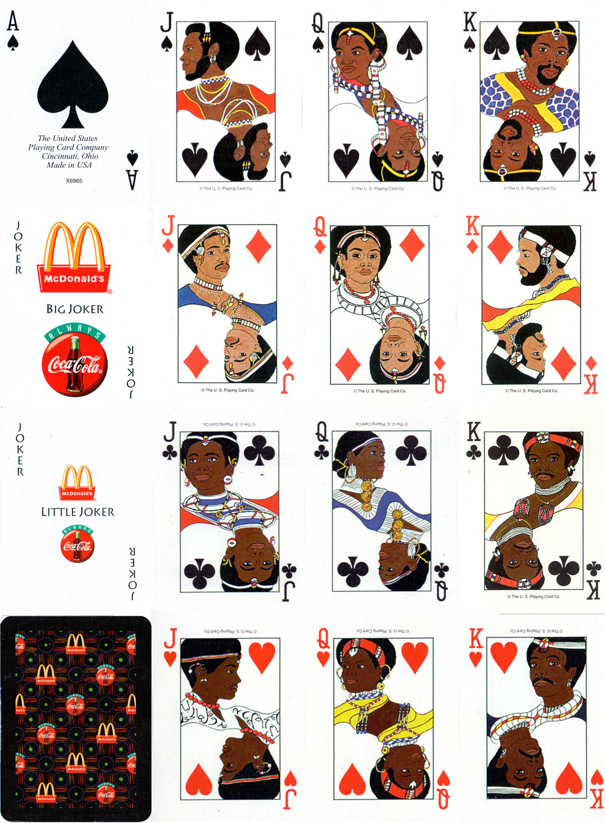 McDonald's Playing Cards by the United States Playing Card Co., Cincinnati, c.1997