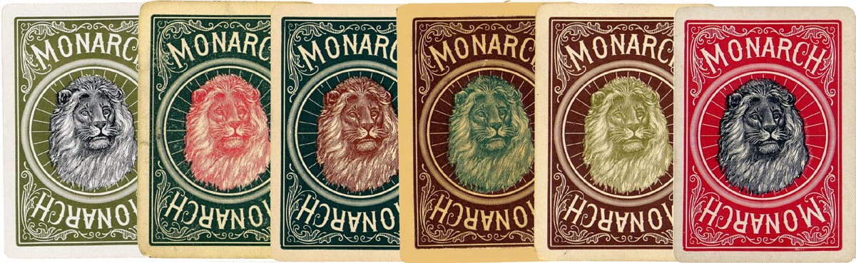 Monarch Bicycle playing cards manufactured by U.S.P.C.C. in 1895