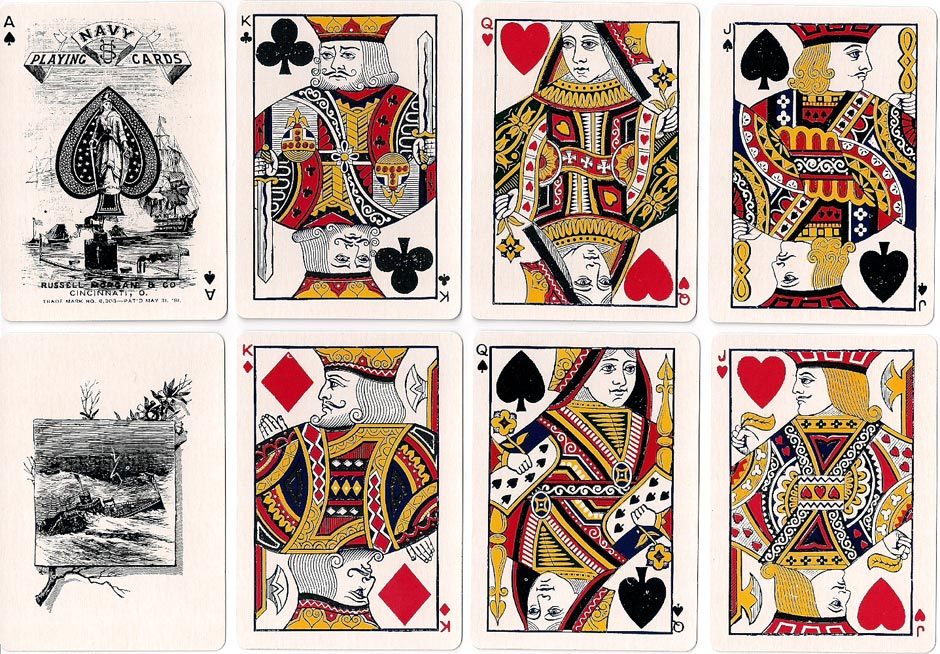'Navy No.303' playing cards, Russell, Morgan & Co., c.1881
