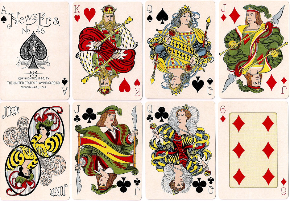 'New Era No.46' playing cards first published in 1896 by the United States Playing Card Co., Cincinnati