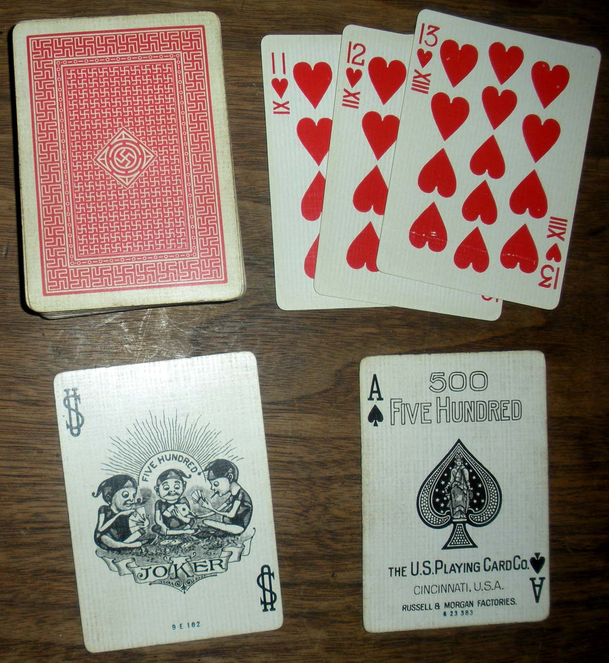 No.500 Playing Cards published by U.S.P.C.C., c.1910