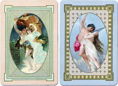 back designs from Norwood #85, manufactured by the United States Playing Card Co. estimated date c.1909