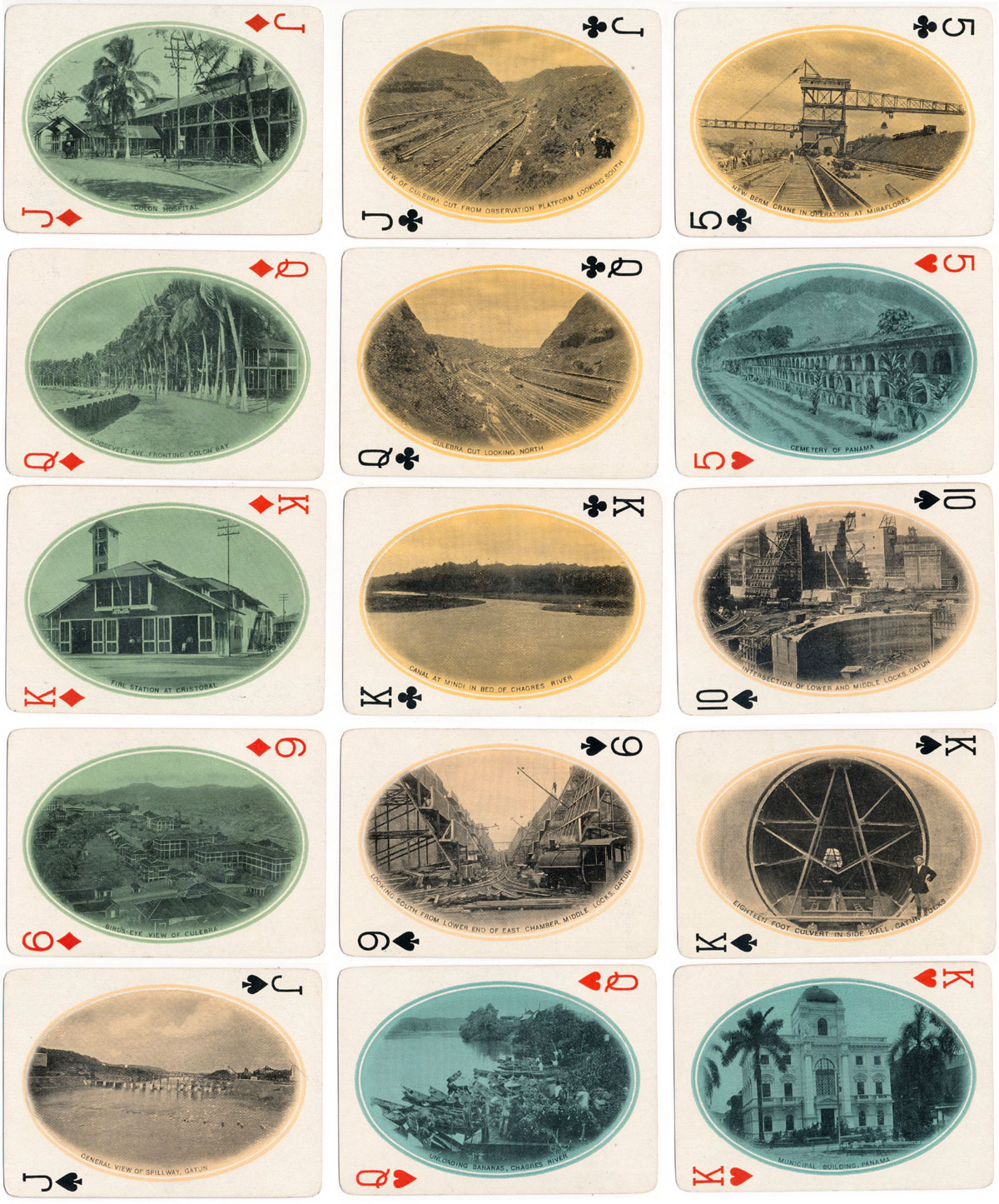 Panama Souvenir playing cards manufactured by USPCC, 6th Edition, produced in 1923