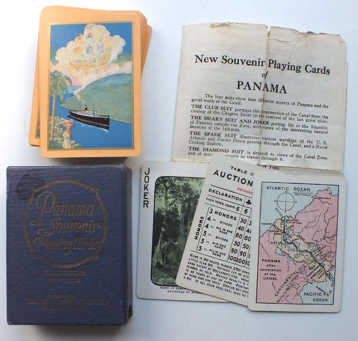 Panama souvenir playing cards the world of playing cards for Table 52 cards
