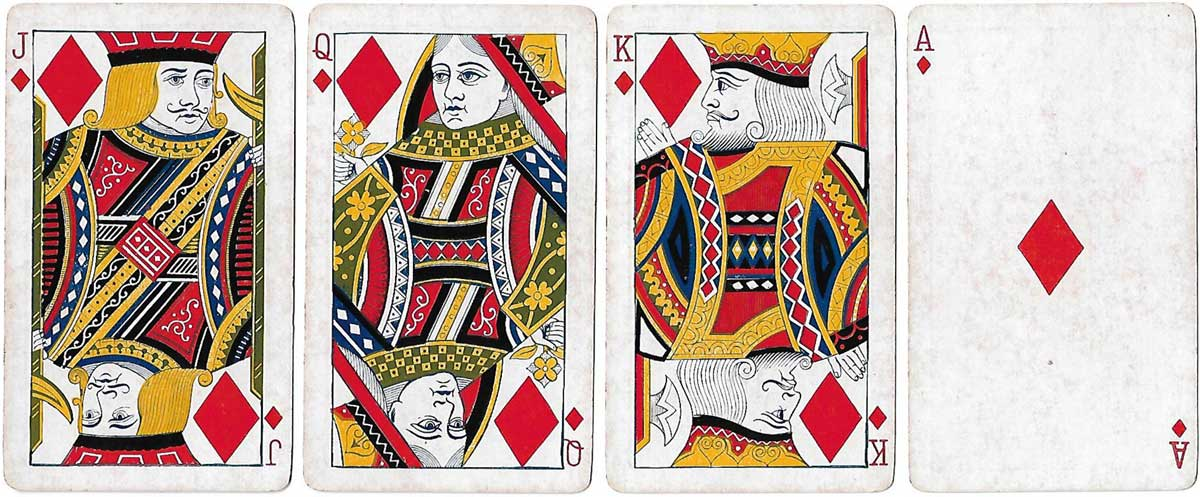 No.4 Special Whist (American Skat) playing cards made by the Russell & Morgan Printing Company, 1889