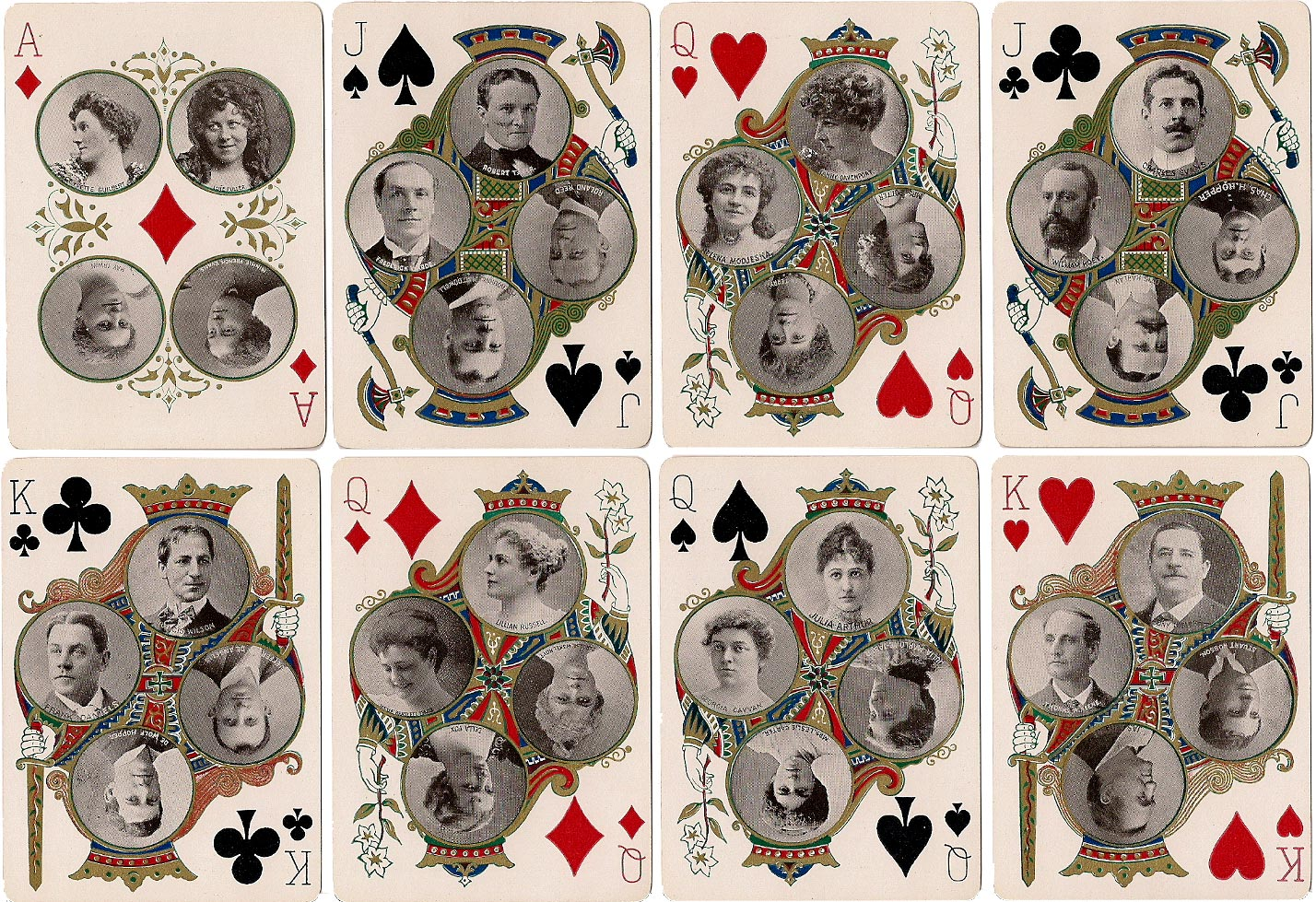 Stage No.65 playing cards published by the United States Playing Card Co., Cincinnati, 1896