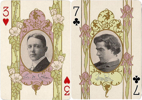 George Cohan and Tyrone Power, Stage Playing Cards, 1908