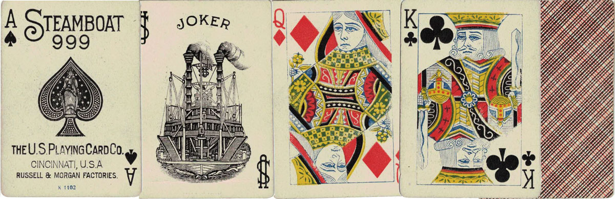 Steamboat No.999 produced by the United States Playing Card Co., Cincinnati, USA, c.1907