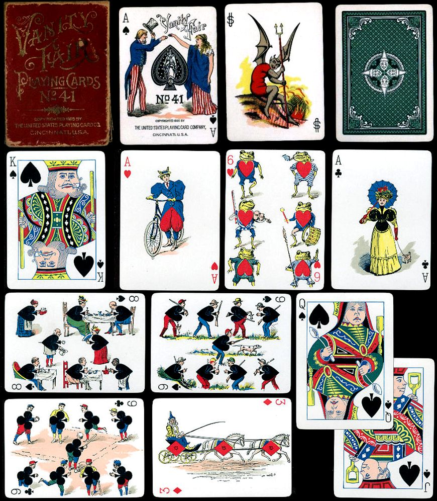 Vanity Fair Transformation Playing Cards, 1890