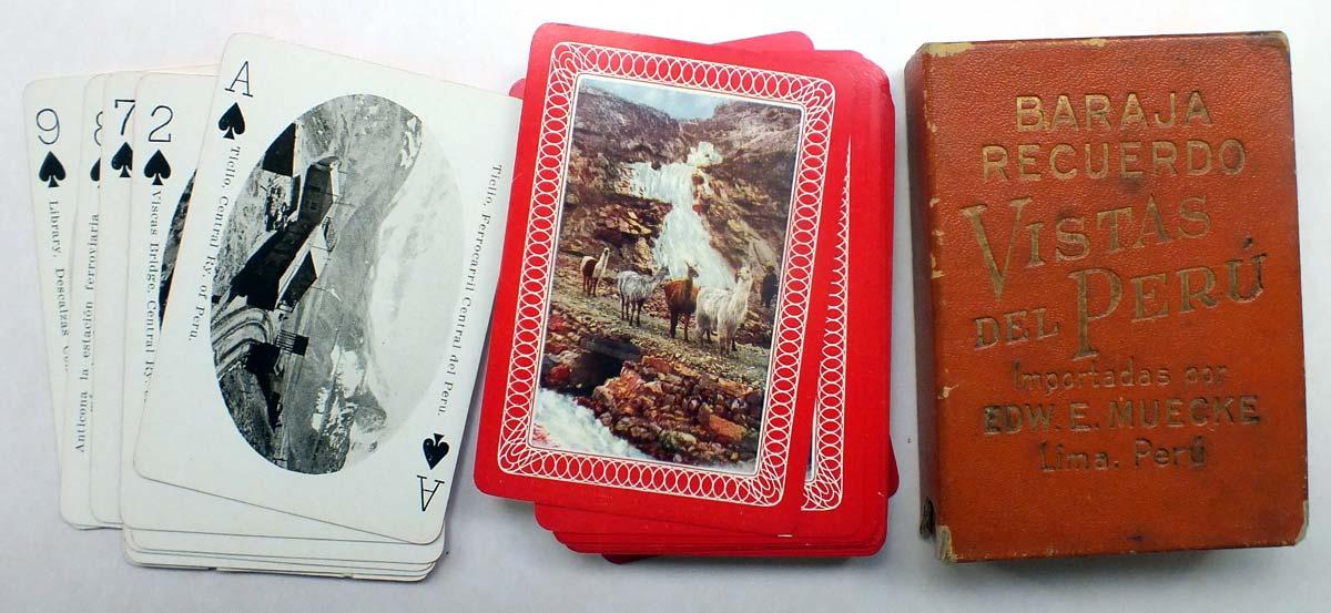Vistas del Perú souvenir deck, made in USA and imported by Edw. E. Muecke, Lima, Peru, c.1920s