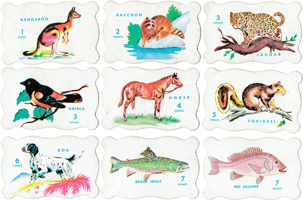 Animal Rummy by Warren Paper Products, c.1960s