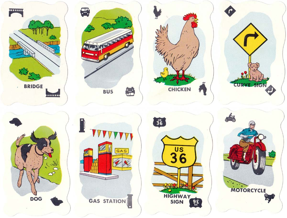 Highway Travel card game by Warren Paper Products, c.1960s