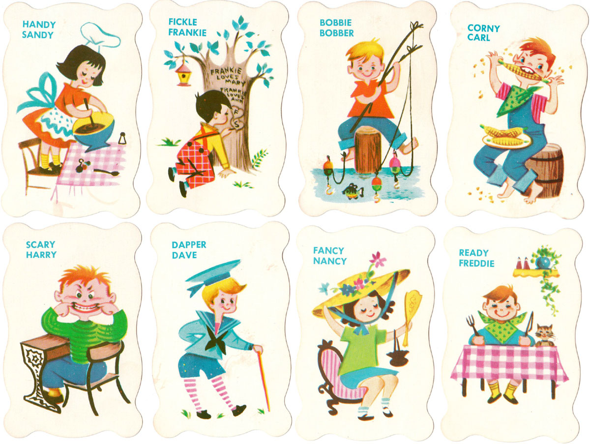 Old Maid card game by Built-Rite toys, Warren Paper Products, Co., c.1960