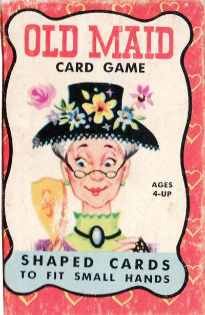 Old Maid card game by Warren Paper Products, c.1960s