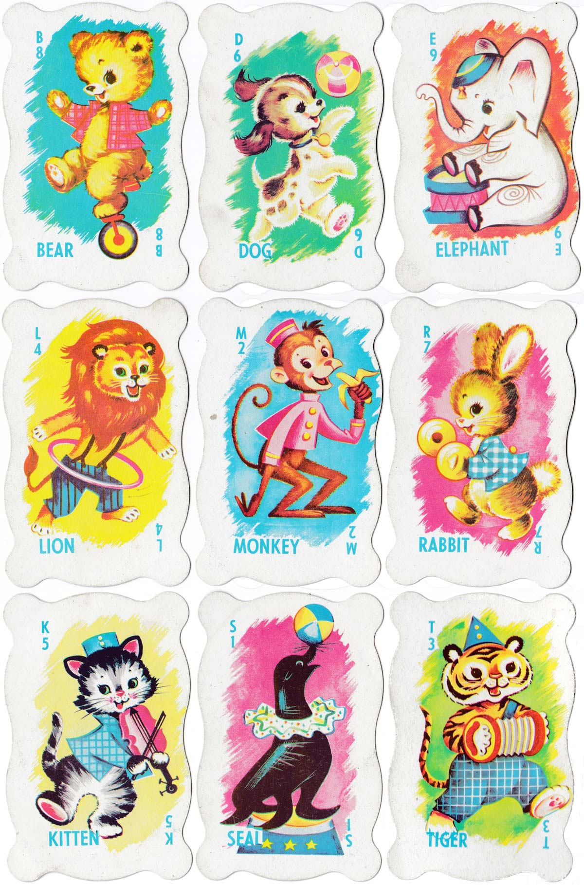 Zoo Fun card game no.445 by Warren Paper Products, c.1960s