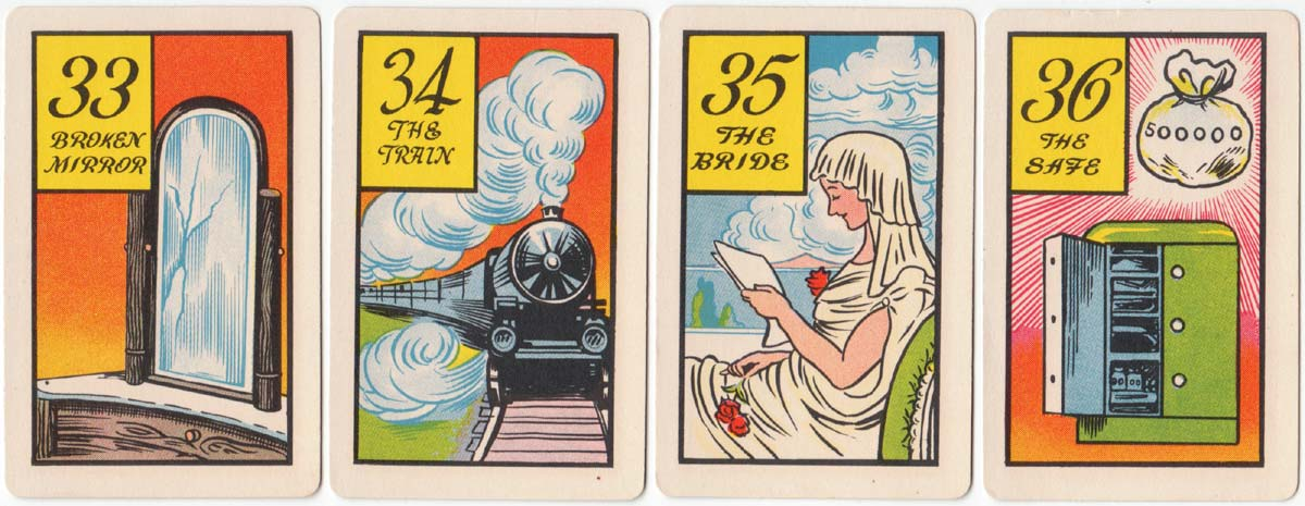 Fortune Telling cards by Whitman Publishing Co., 1940