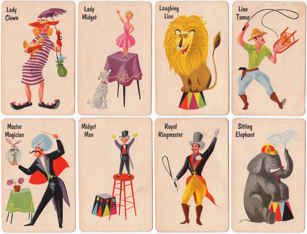 Old Maid card game by Whitman Publishing Co., 1951