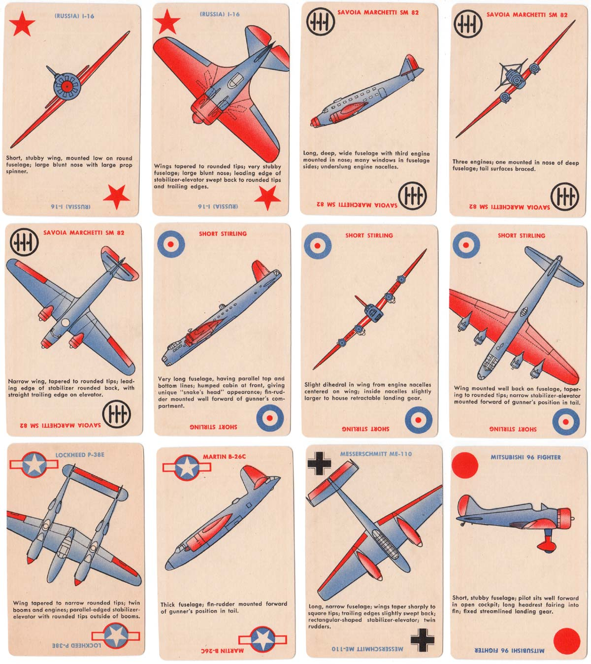 'Squadron Scramble' card game no.2 for identifying military planes, Whitman Publishing Co., Racine, Wisconsin, 1942