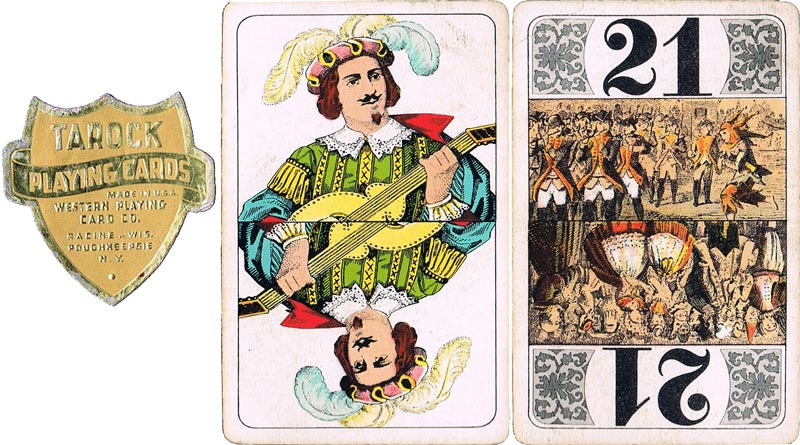 Tarock pack published by Western Playing Card Co., made in U.S.A.